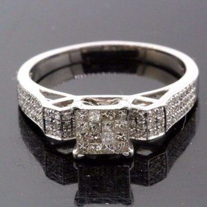 Women's 14k White Gold & Diamond Engagement Ring